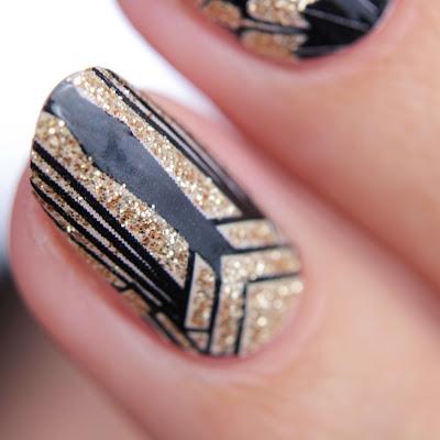 stickergigant goldener gatsby nailwraps lust und laune lack gold