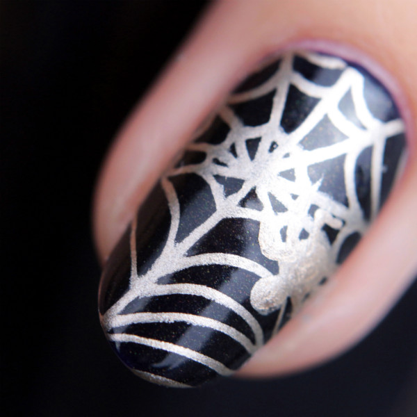 halloween nailart, spiderweb, spinnenweben, nailart, halloween nails